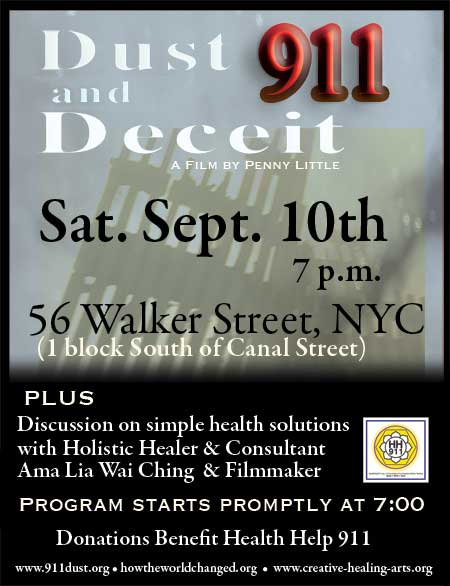 dust and deceit sept. 10 nyc